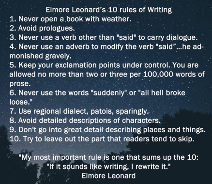 emoreleonardstenrulesofwriting