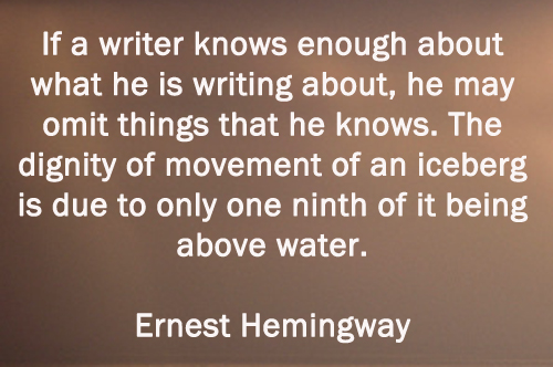 hemingways writing style 2 essay