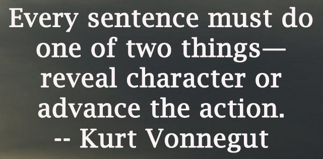 a comment on the writer kurt vonnegut Writing rules: 8 kurt vonnegut writing tips  may miss some of their best quotes,  or misinterpret them, so do please add them into the comments, and remember,.