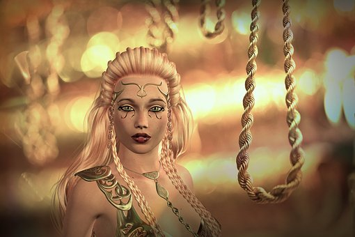 fantasy woman with rope