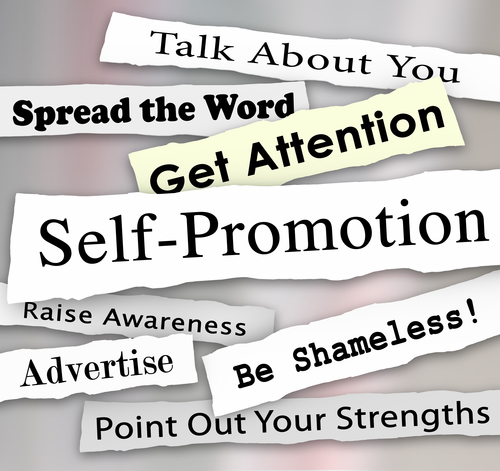 Self-Promotion Headlines Marketing Publicity Attention